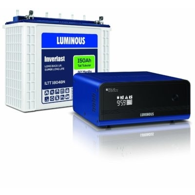 Luminous Zelio 1100 Inverter Iltt 18048n 150 Ah Tubular