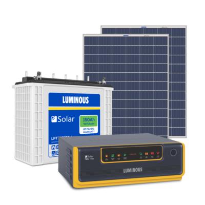 Luminous Solar 850VA Inverter / 150Ah Battery / 300 Watt Panel