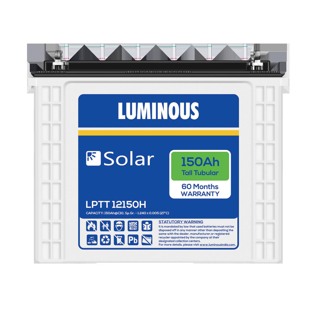 Luminous Solar 150 Ah Tall Tubular battery | Solar Battery Price