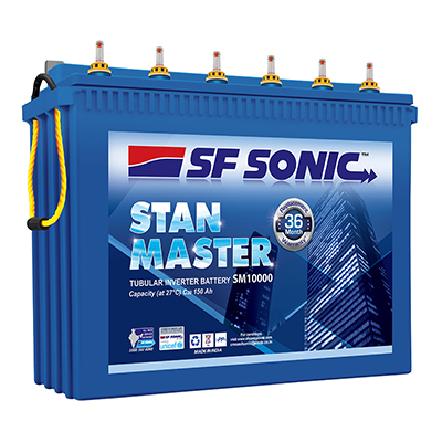 SF Sonic Stan Master SM 10000 150AH Tall Tubular Battery