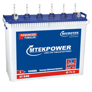 Microtek Et 648 150ah Tall Tubular Battery Mtek Battery