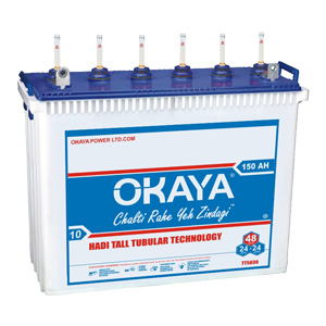 Okaya HT 6030 150AH Tall Tubular Battery