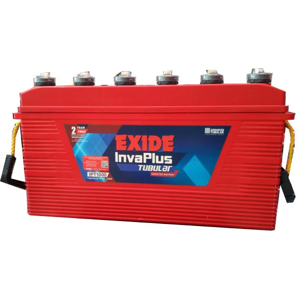 exide invaplus 1000 100ah tubular battery exide inverter battery. Black Bedroom Furniture Sets. Home Design Ideas