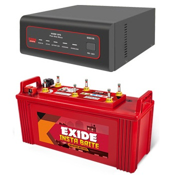 EXIDE XTATIC 650VA HOME UPS AND EXIDE INSTA BRITE IB1500