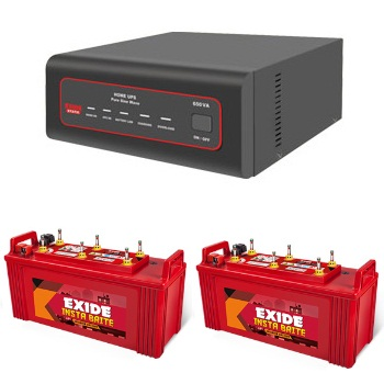 EXIDE XTATIC 1450VA HOME UPS AND 2PCS EXIDE INSTA BRITE IB1500