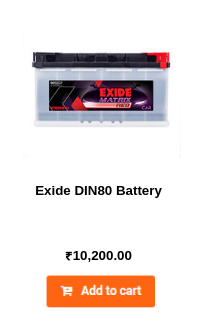 Exide DIN80 Battery