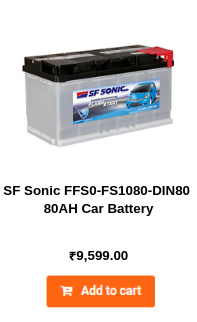 SF Sonic FFS0-FS1080-DIN80 80AH Car Battery