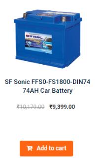 SF SONIC FFS0-FS1800-DIN74