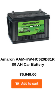Amaron AAM-HW-HC620D31R 80 AH Car Battery