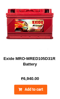 Exide MRO-MRED105D31R Battery
