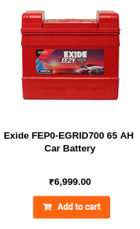Exide FEP0-EGRID700 65 AH Car Battery