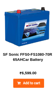 SF Sonic FFS0-FS1080-70R 65AH Car Battery