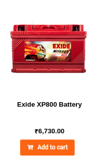 Exide XP800 Battery